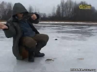 Зимой на безмотылку