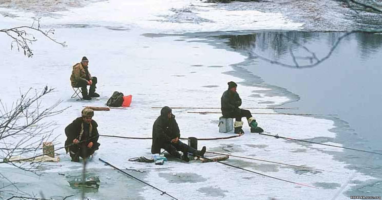 Рыбалка зимой безо льда